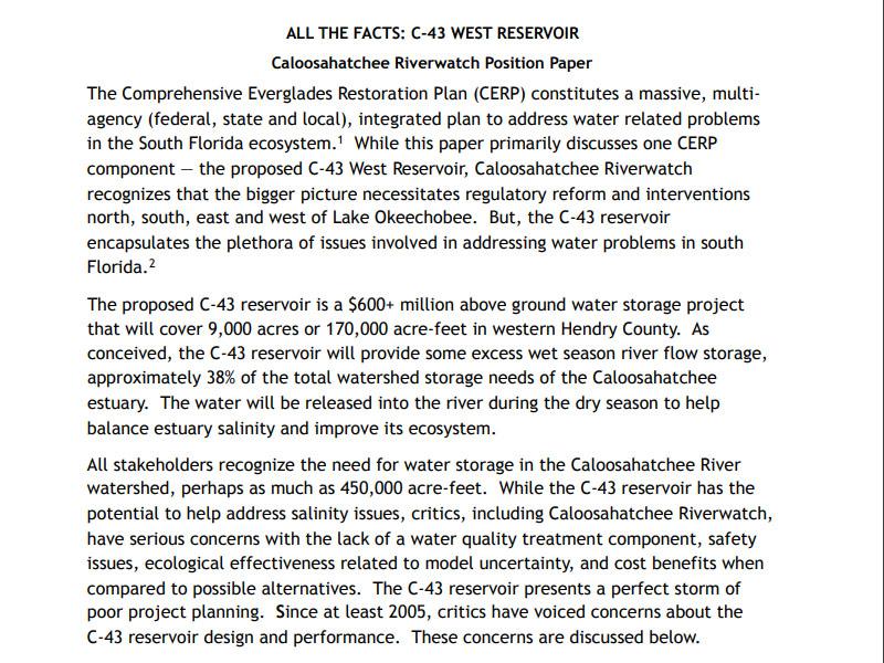 C43 Position Paper