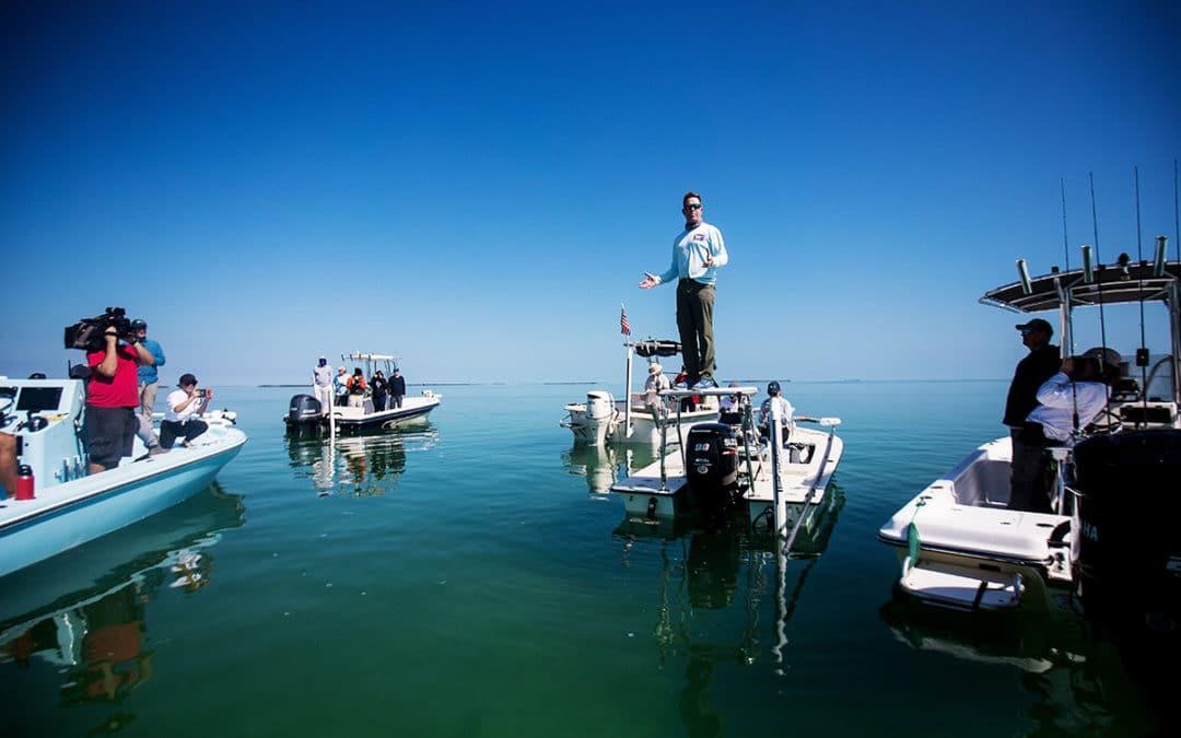 Capt Steve Friedman in Floriday Bay