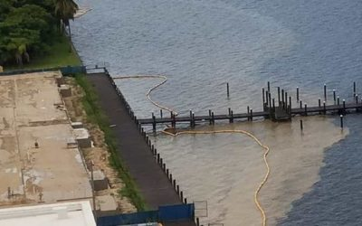 Dirty Water Again Surged into the Caloosahatchee from Two Downtown Fort Myers Construction Sites