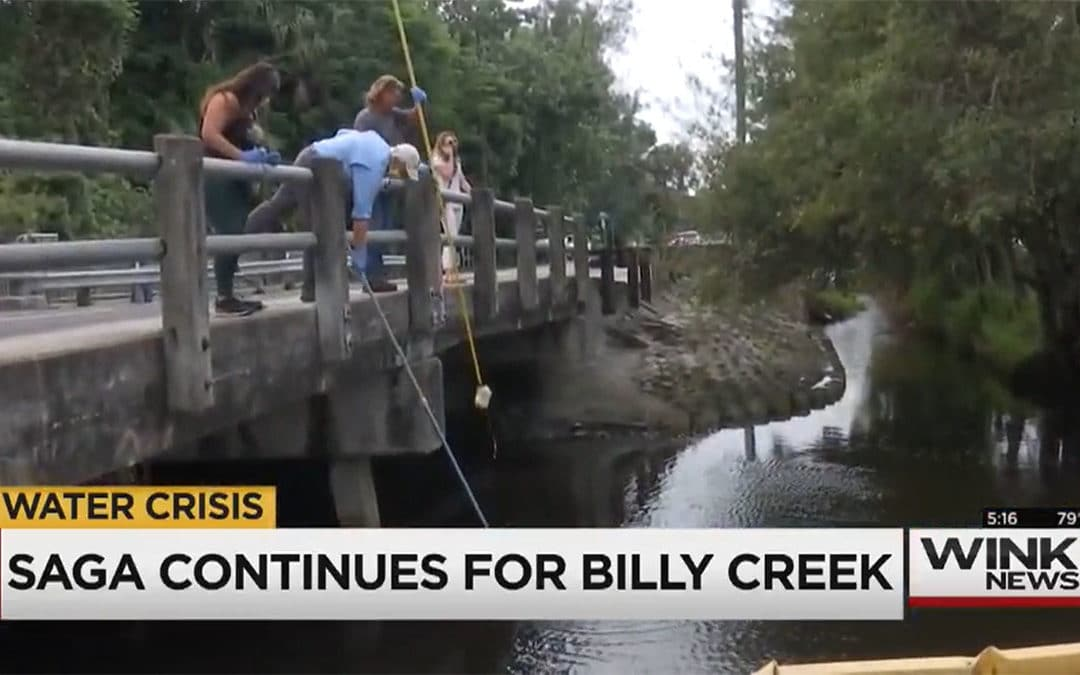 Researchers Take More Samples from Billy Creek in Fort Myers