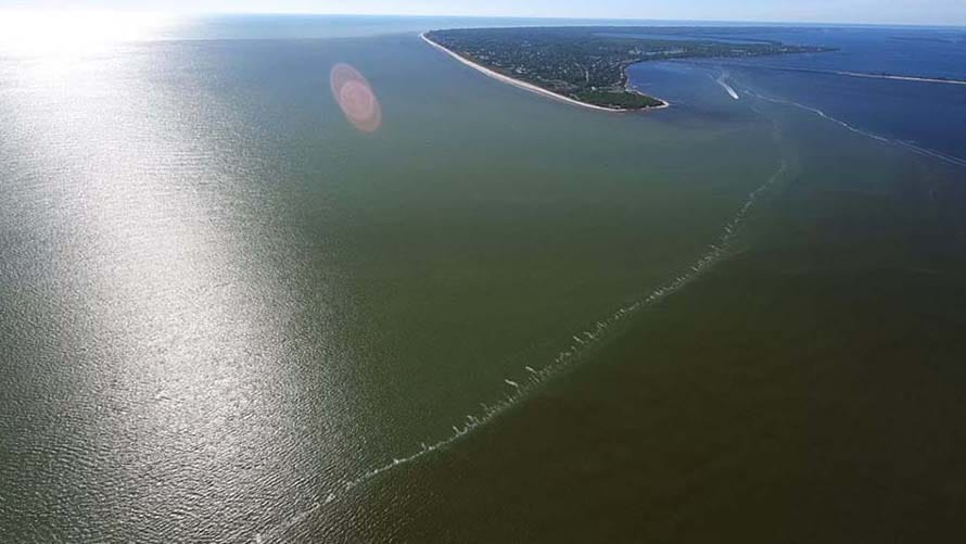 Aerial Images of SWFL Shores Shows Dark Water Discharge