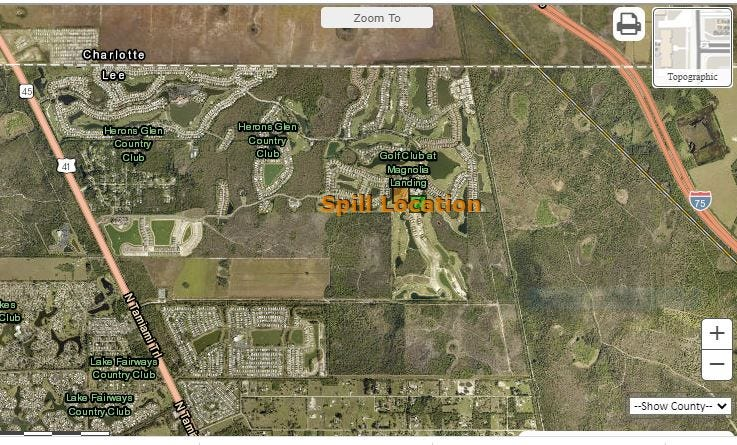 What Happened to 1,000 Gallons of Spilled Wastewater in North Fort Myers?