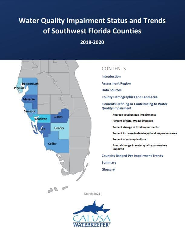 SWFL Water Quality Report Cover Page