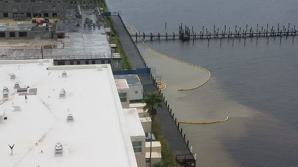 continuous Caloosahatchee pollution from development sites