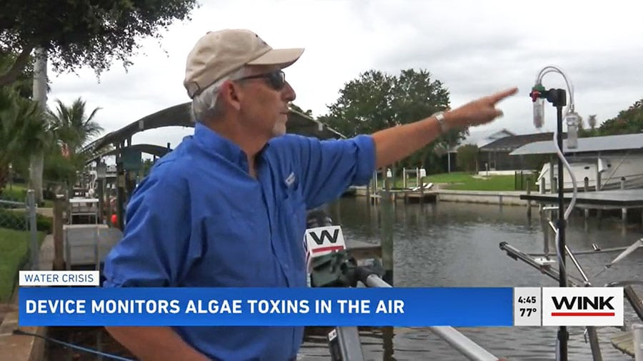 Calusa Waterkeeper Testing New Device to Measure Air Toxins from Blue-Green Algae & Red Tide